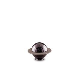 Small Black 'Saturn' Ceramic Urn