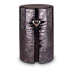 Wrapped Heart LED Urn (Graphite)