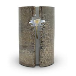 Wrapped Lily LED Urn (Brown)