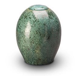 Ceramic Urn (Green)