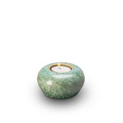 Ceramic Candle Holder Keepsake (Green)