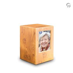 MDF Urn With Photo Insert (Light Wood Effect)