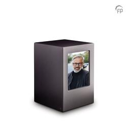 MDF Urn With Photo Insert (Black)