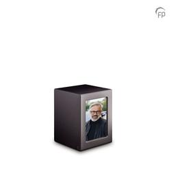 Medium MDF Urn With Photo Insert (Black)