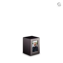 Small MDF Urn With Photo Insert (Black)