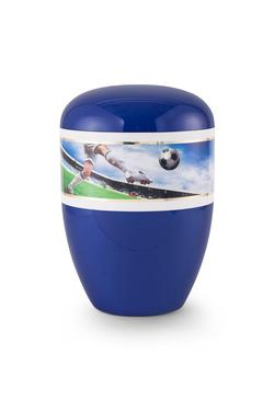 Arboform Urn (Blue with Football Border)