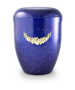 Arboform Urn (Blue with Gold Motif)
