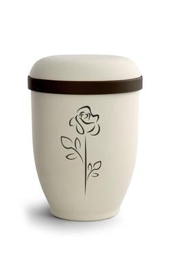 Arboform Urn (Natural Stone with Rose Design)
