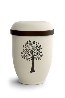 Arboform Urn (Natural Stone with Tree Design)