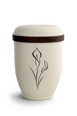 Arboform Urn (Natural Stone with Calla Lily Design)