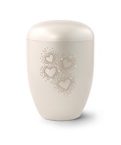 Arboform Swarovski Rose Crystal Hearts - Pearl