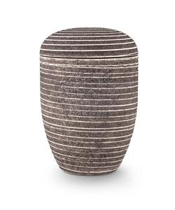 Arboform Urn. Pierre Addition, Grey, Grooved surface in stone finish.