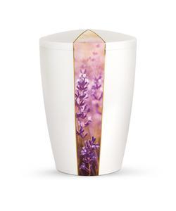 Arboform Urn - Flora Edition - White with Lavender Segment