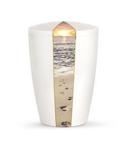 Arboform Urn - Natura Edition - White with Beach Segment