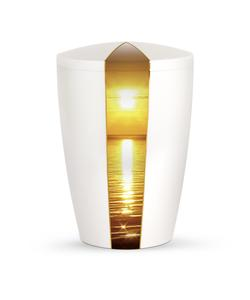 Arboform Urn - Natura Edition - White with Sunset Segment