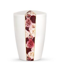 Arboform Urn - Flora Edition - White with Rose Variety Segment