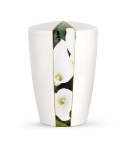 Arboform Urn - Flora Edition - White with Calla Lily Segment