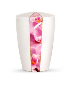 Arboform Urn - Flora Edition - White with Orchid Segment