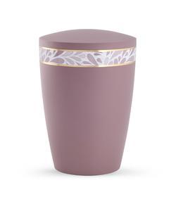 Arboform Urn - Pastell Edition - Dark Rose with Leaf Border