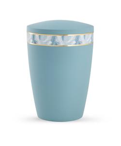 Arboform Urn - Pastell Edition - Turquoise with Feather Border