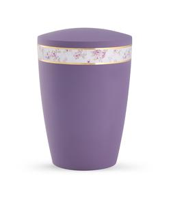 Arboform Urn - Pastell Edition - Lilac with Flower Border