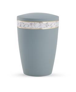 Arboform Urn - Pastell Edition - Grey with Leaf Border
