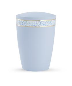 Arboform Urn - Pastell Edition - Light Blue with Plant Border