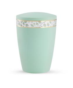 Arboform Urn - Pastell Edition - Mint with Leaf Border