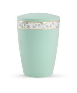 Arboform Urn - Pastell Edition - Mint with Leaf Border
