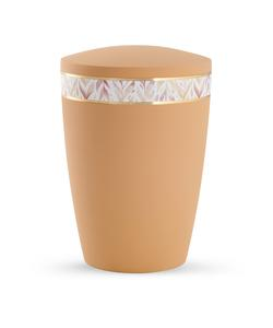 Arboform Urn - Pastell Edition - Peach with Leaf Border