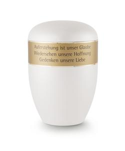 Arboform Urn - White with Personalised Border