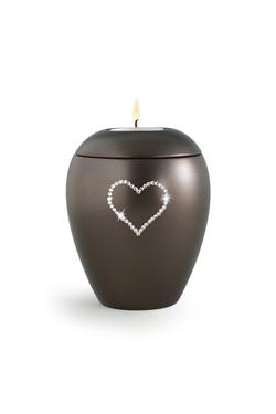 Swarovski Candle Holder Keepsake (Chocolate)