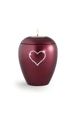 Swarovski Candle Holder Keepsake (Burgundy)
