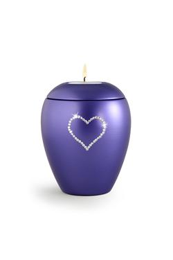Swarovski Candle Holder Keepsake (Violet)