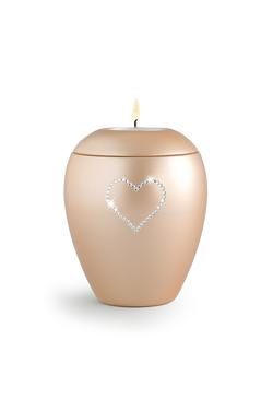 Swarovski Candle Holder Keepsake (Apricot)