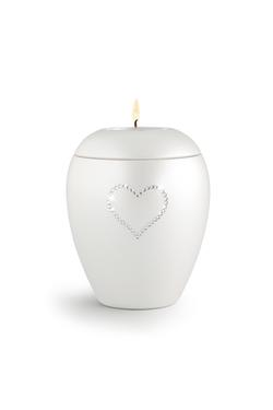 Swarovski Candle Holder Keepsake (White)