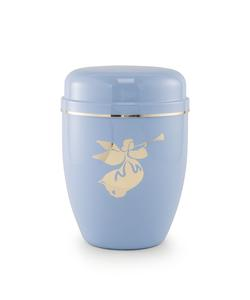 Infant Urn (Pastel Blue with Angel Motif)