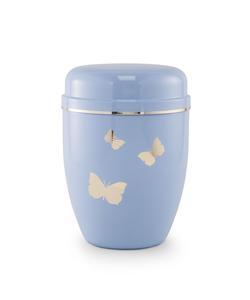 Infant Urn (Pastel Blue with Butterflies Motif)