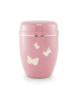 Infant Urn (Pastel Pink with Butterflies Motif)