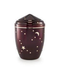 Infant Urn (Burgundy with Gold Moon & Stars Design)