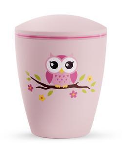 Arboform Infant Urn - Pink with Illustrated Owl