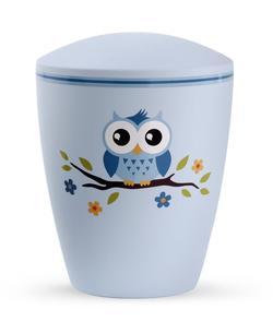 Arboform Infant Urn - Blue with Illustrated Owl