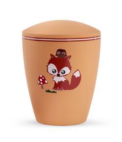 Arboform Infant Urn - Orange with Illustrated Fox