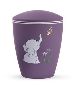 Arboform Infant Urn - Purple with Illustrated Elephant