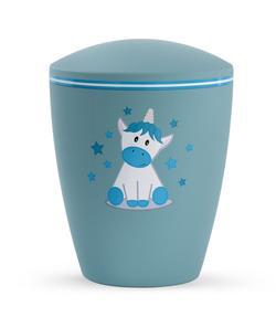Arboform Infant Urn - Turquoise with Illustrated Unicorn