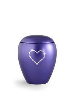 Ceramic Swarovski Heart Keepsake (Violet)