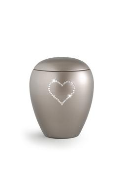 Ceramic Swarovski Heart Keepsake (Silver)