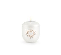 Swarovski Rose Crystal Hearts Candleholder - Pearl