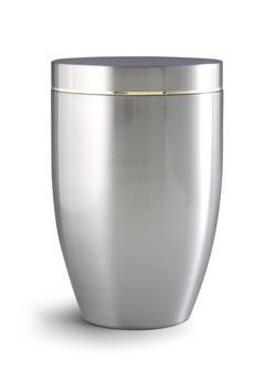 Steel Urn - Gold Rim