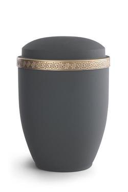 Steel Urn (Graphite with Gold Block Spiral Border)